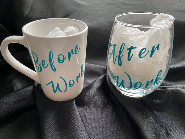 Coffee Mug and Wine Glass Set of Two