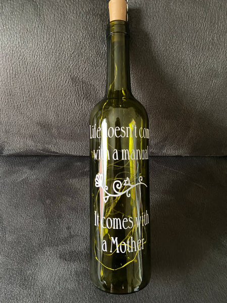 Lighted Wine Bottle for Mom