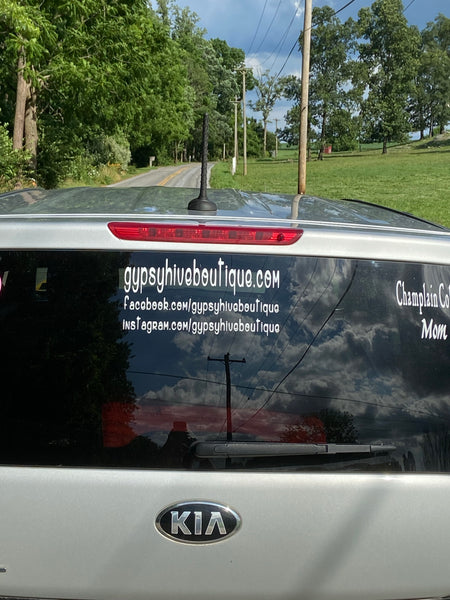 Business Car Window Decal