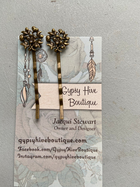 Antique Bronze Hair Pins
