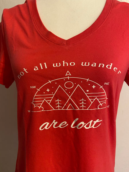 Not All Who Wander Are Lost Woman's Shirt