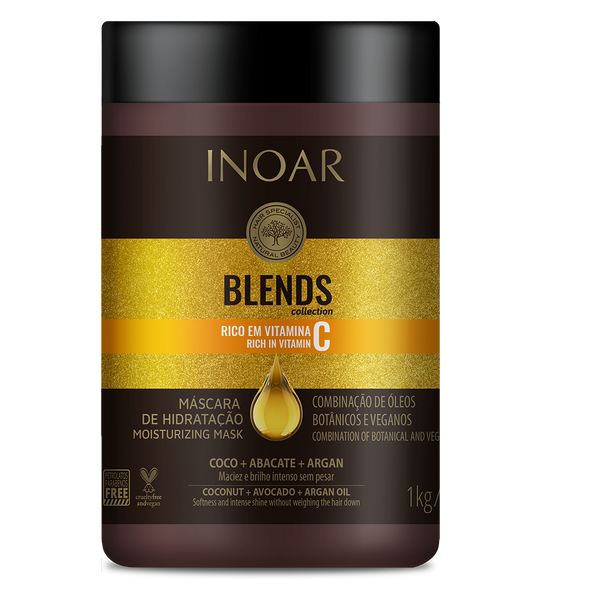 INOAR Blends Mask - kaukė su vitaminu C 1000 g