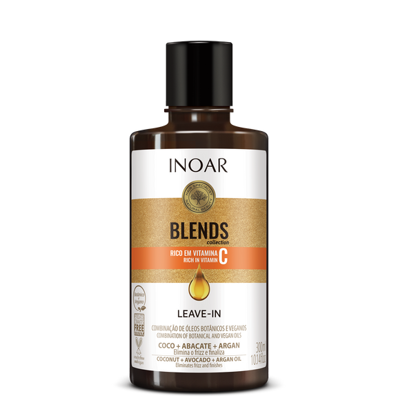 INOAR Blends Leav-in - nenuplaunamas balzamas su vitaminu C 300 ml