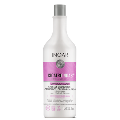 INOAR CicatriOndas Conditioner - garbanotų plaukų kondicionierius 1000 ml