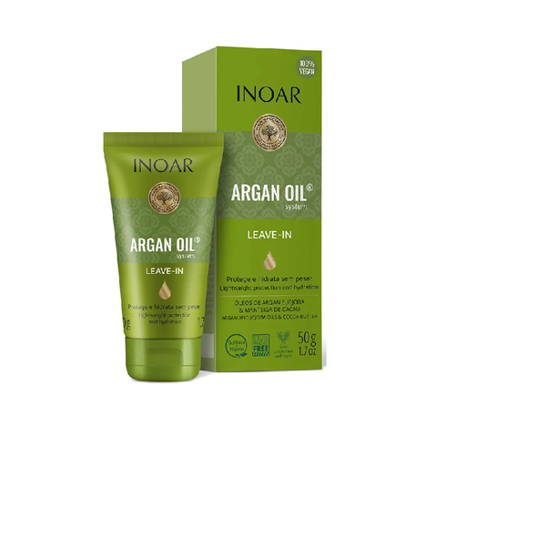 INOAR Argan Oil Leave-in - nenuplaunamas balzamas su argano aliejumi 50 ml