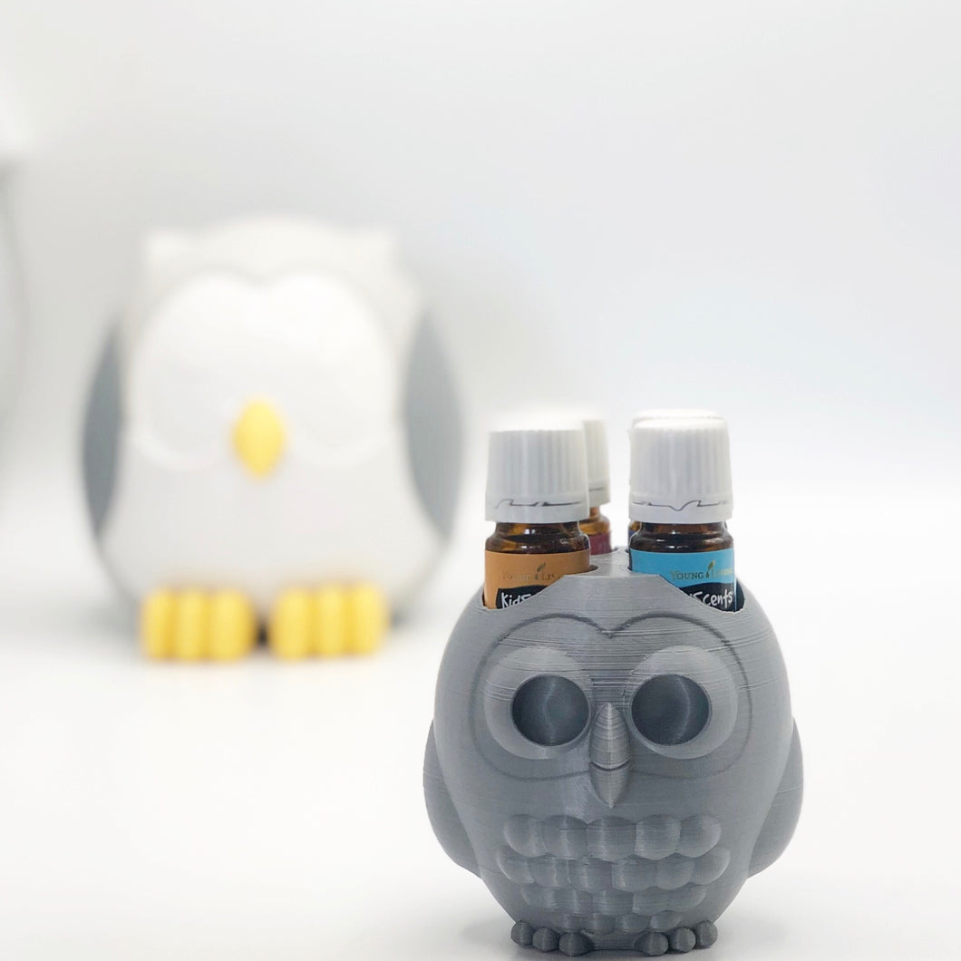 Essential Oil Holder - Wise Owl - Gray