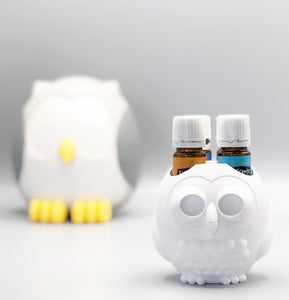 Essential Oil Holder - Wise Owl - White