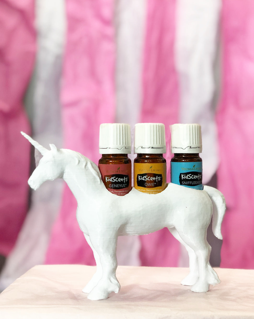 Essential Oil Holder - mystical Unicorn - White