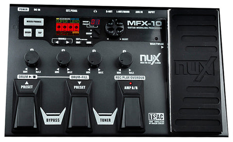NUX MFX10 MODELING GUITAR EFFECTS PROCESSOR