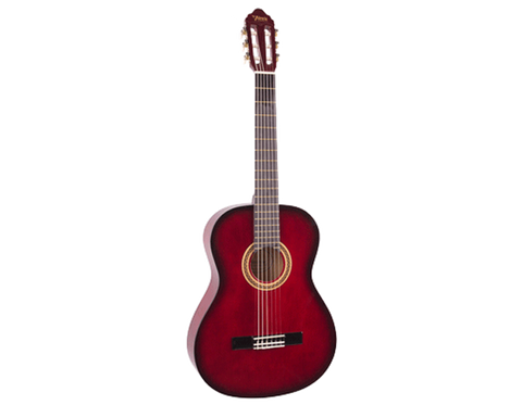 VALENCIA 100 SERIES 1/4 CLASSICAL GUITAR - RED SUNBURST