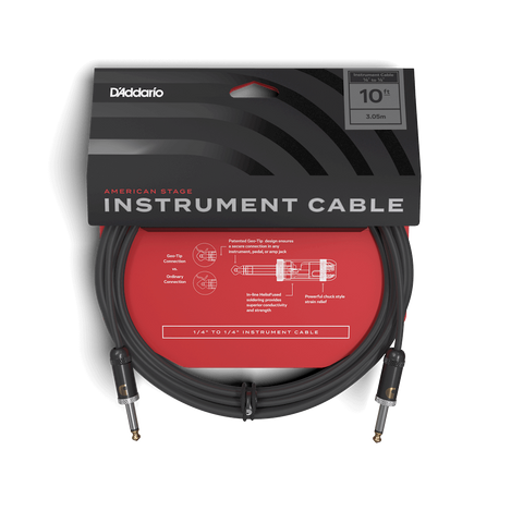 DADDARIO AMERICAN STAGE INST CABLE-10 FT