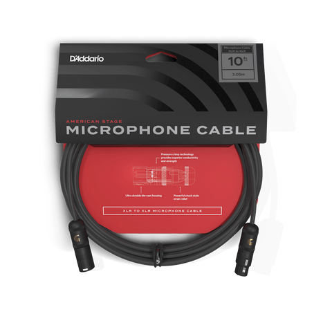 DADDARIO 10FT MICROPHONE CABLE AMERICAN STAGE