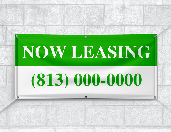 Now Leasing Banner (Customizable)