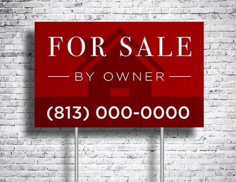 For Sale By Owner Yard Sign (Customizable)
