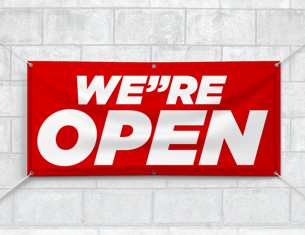 We Are Open Banner