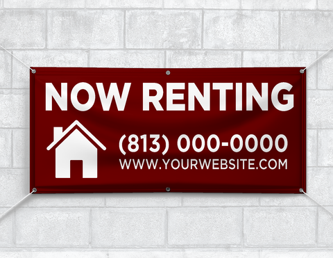 Now Renting Banner (Customizable)