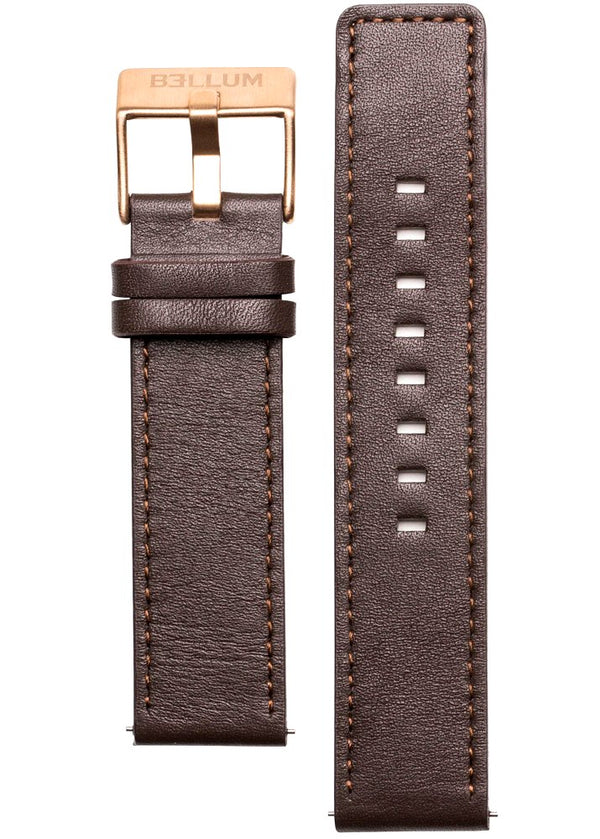 BROWN STRAP / ROSE GOLD
