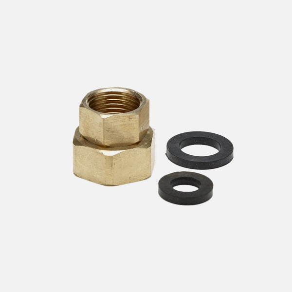 "Female Brass Garden Hose Adapter 1/2"" NPT to 3/4"" GHT"