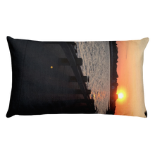 Load image into Gallery viewer, WATERFRONT SUNSET | Premium Pillow