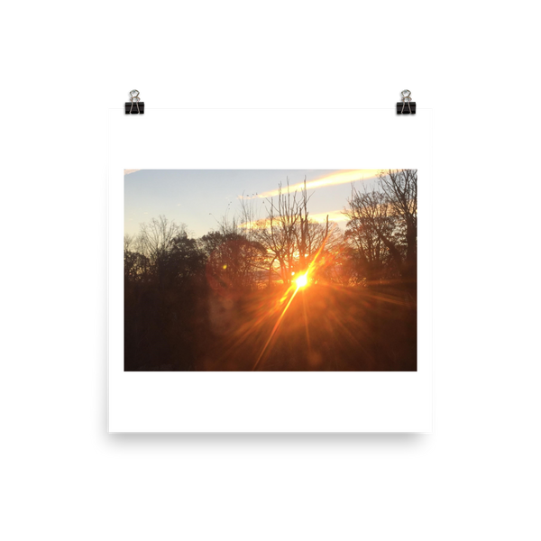 BEAMING SUNSET | Poster