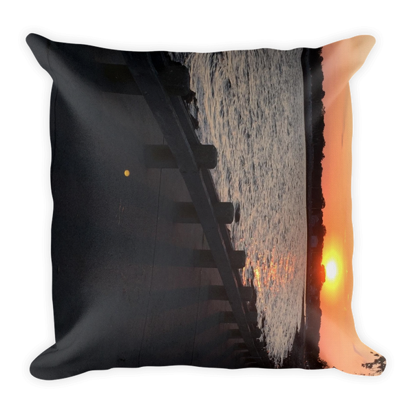 WATERFRONT SUNSET | Premium Pillow