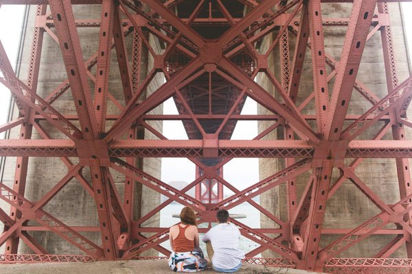 Dodopix - couple sous le golden gate bridge a san francisco