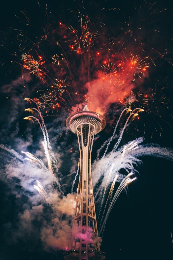 Dodopix feu d'artifices space needle a seattle