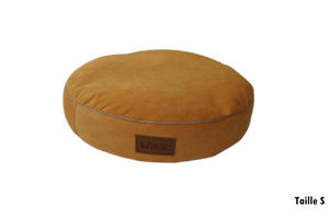 Coussin chien & chat Halo Rond - Bouton d'or