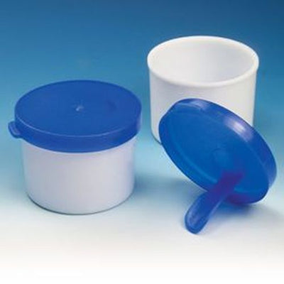 Stool Container with Stick, 20mL, White PP, 100/Bag, 12 Bags/Unit