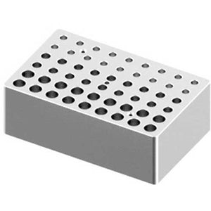 Block, used for 0.2mL, 0.5mL and 1.5/2mL tubes, 18 holes each size