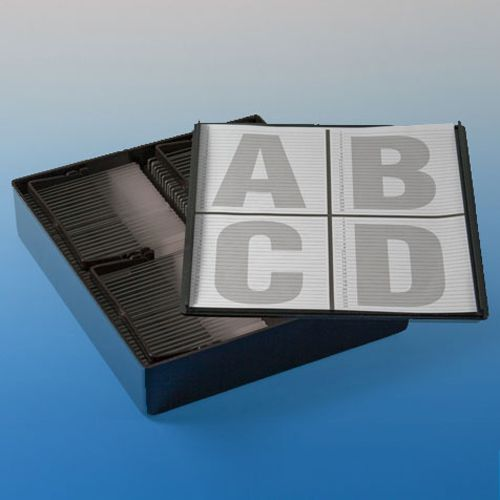 Slide Staining Storage Box, Black Polystyrene