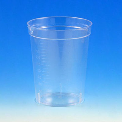 Specimen Container, 6.5oz, with Pour Spout, PS, Graduated