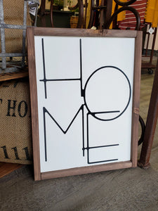 """HOME"" Wood Sign"
