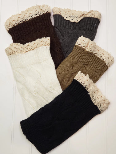 Lace Edge Boot Socks - Short