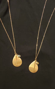 Tear-Drop Necklace with Stone