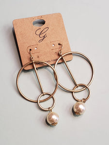 Rings + Pearl Earrings