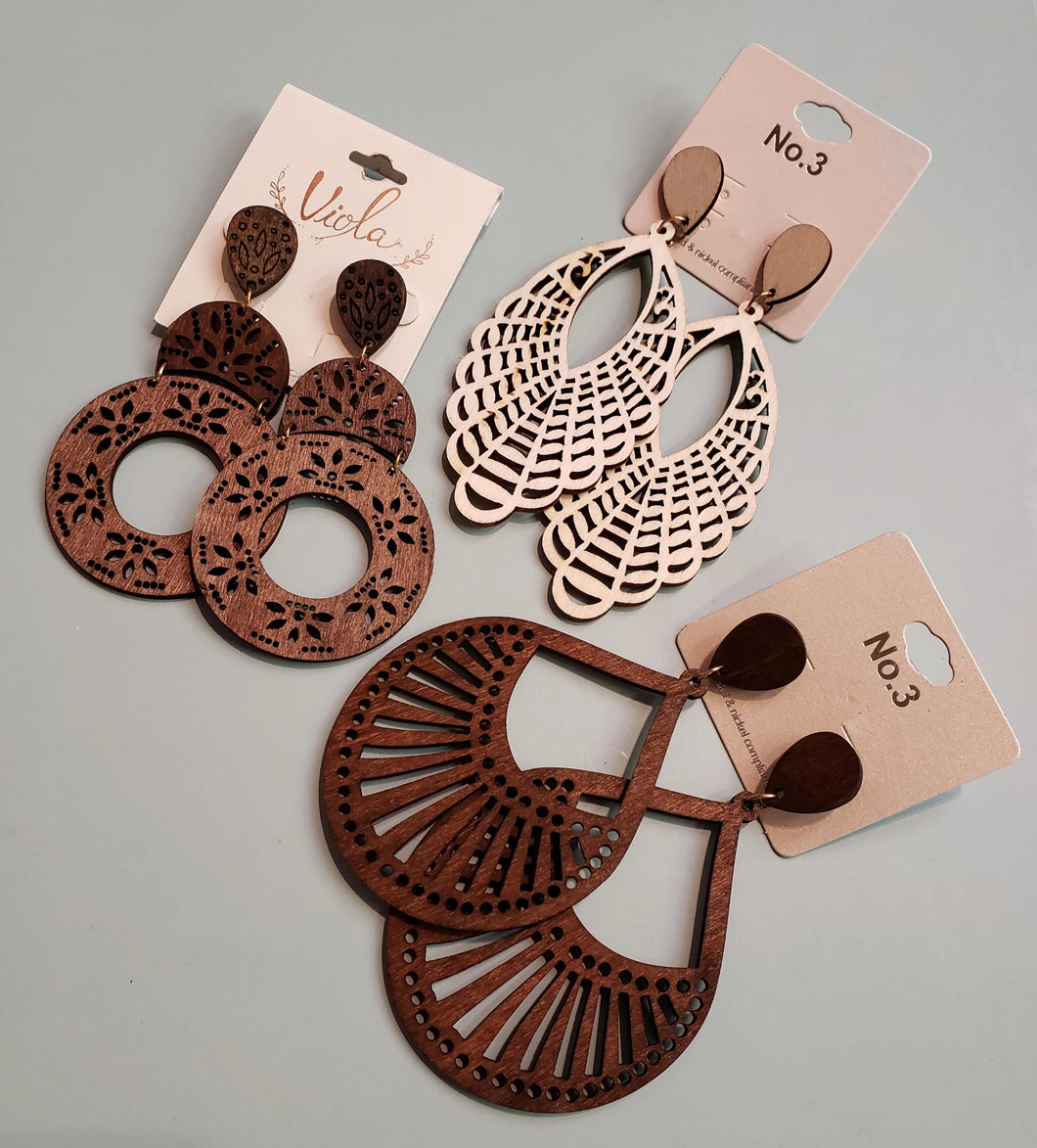 Wood Die-Cut Earrings