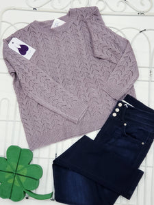 Lavender Knit Sweater