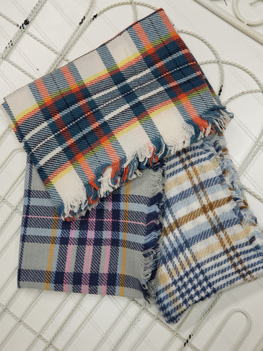 Plaid Infinity Scarf- Brights