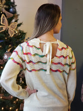 Load image into Gallery viewer, Rainbow Tie-Back Sweater