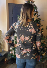 Load image into Gallery viewer, Cold Shoulder Floral Sweater