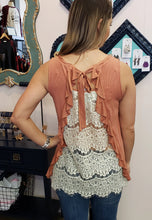 Load image into Gallery viewer, Lace & Ruffle Back Tank Top