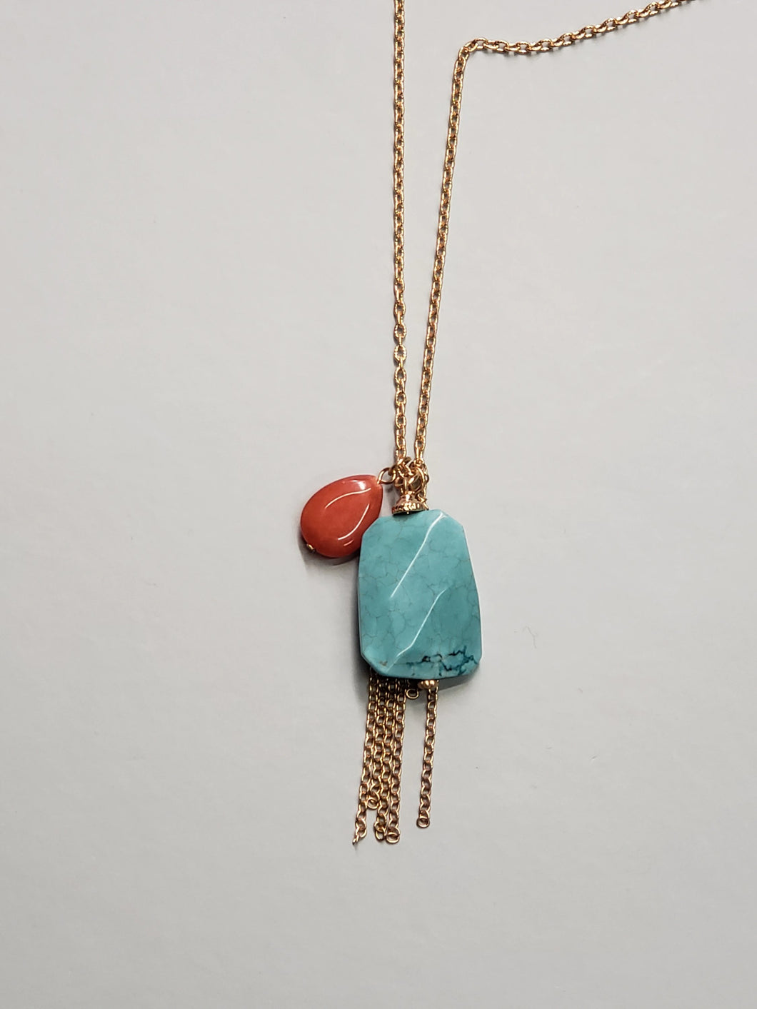 Stone/Tassel Necklace