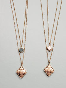 Layered Clover Necklace