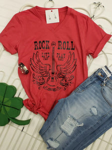 Rock & Roll V-Neck Tee