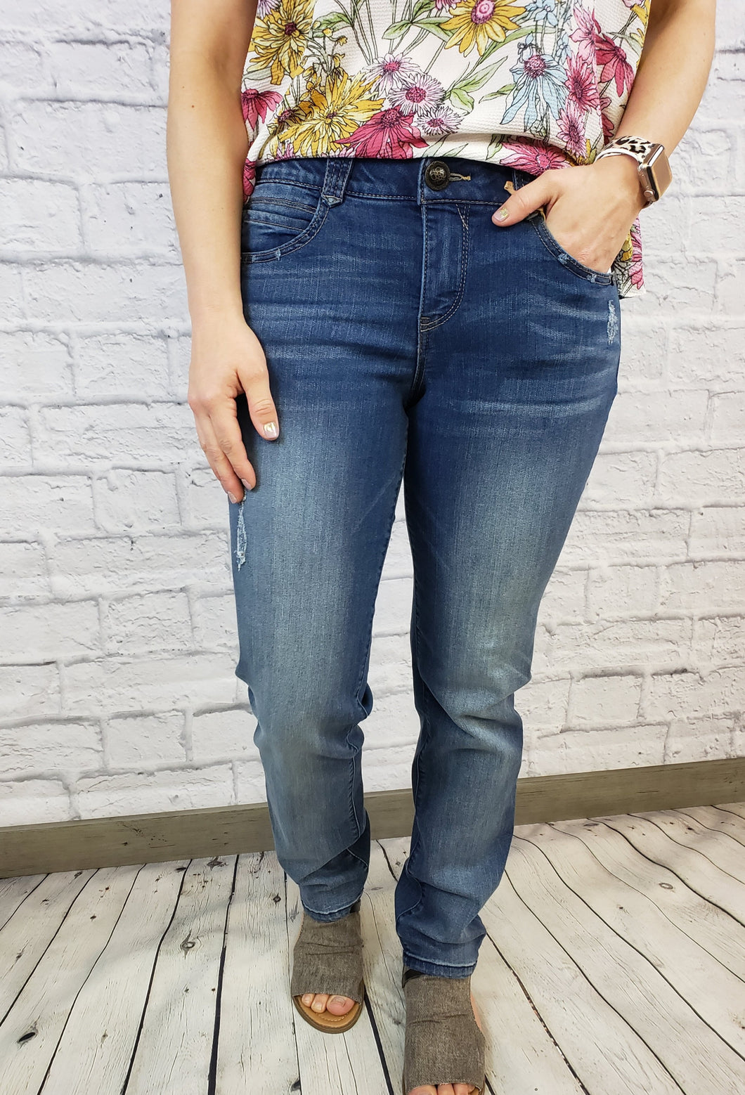 Stretch Denim Medium Wash