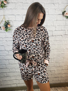 Risa Leopard Print Lounge Wear Set