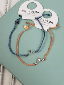 PuraVida Shoreline Anklet Rose Gold