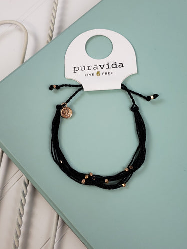 PuraVida Malibu Rose Gold: Black