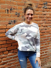Load image into Gallery viewer, Lysa Camo Print Sweatshirt